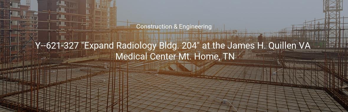 Y 621 327 Expand Radiology Bldg 204 At The James H Quillen Va