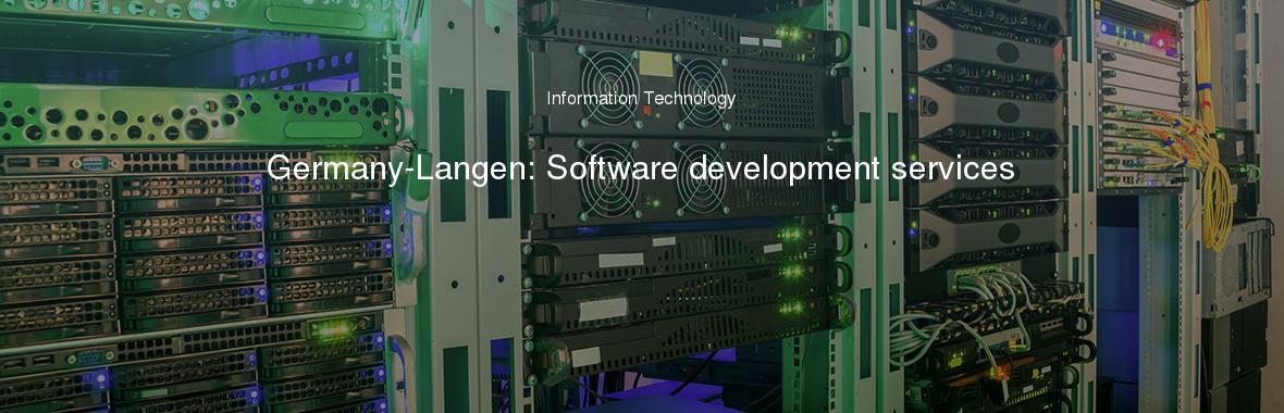 Germany-Langen: Software development services