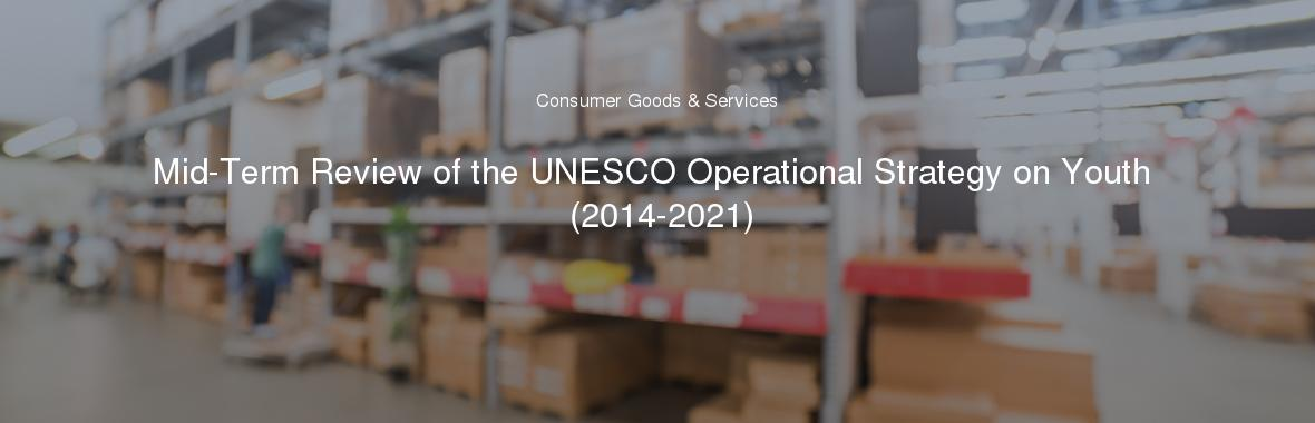 Mid-Term Review of the UNESCO Operational Strategy on Youth (2014-2021)
