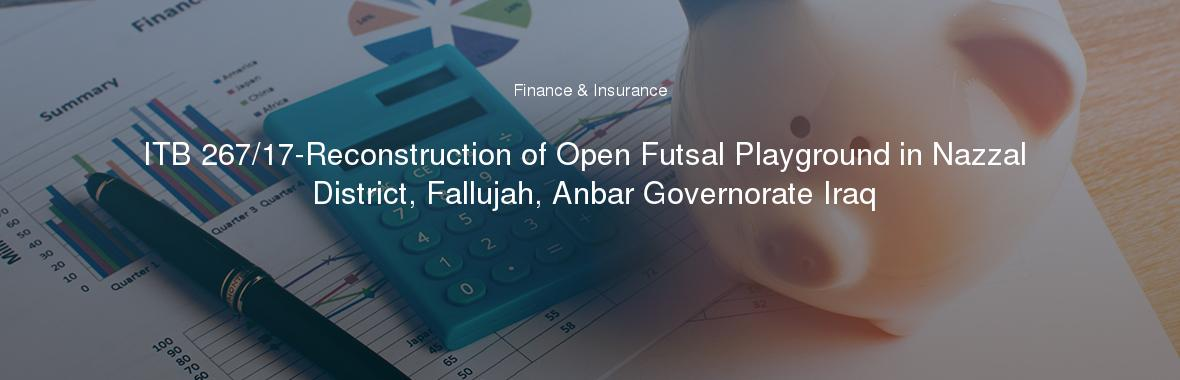 ITB 267/17-Reconstruction of Open Futsal Playground in