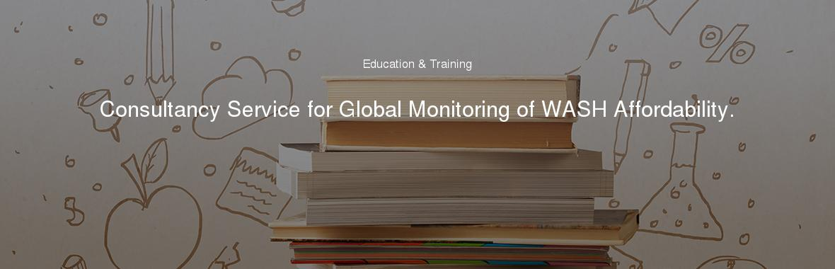 Consultancy Service for Global Monitoring of WASH Affordability.