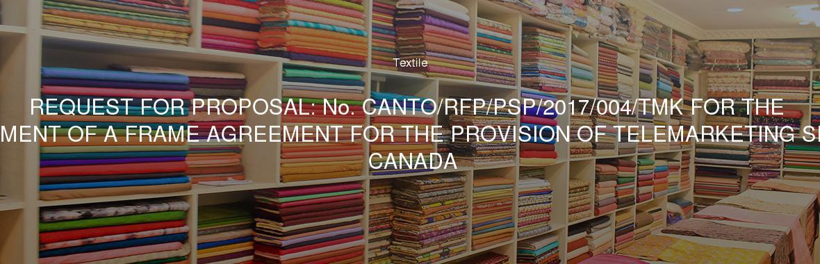 request for proposal no cantorfppsp2017004tmk for the establishment of a frame