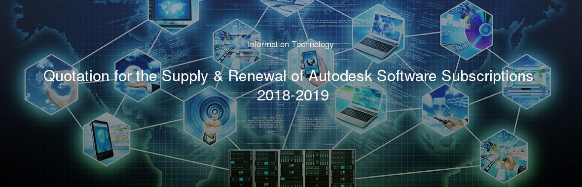 Quotation for the Supply & Renewal of Autodesk Software