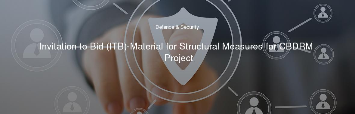 Invitation to Bid (ITB)-Material for Structural Measures for CBDRM Project