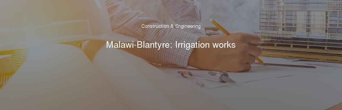 Malawi-Blantyre: Irrigation works