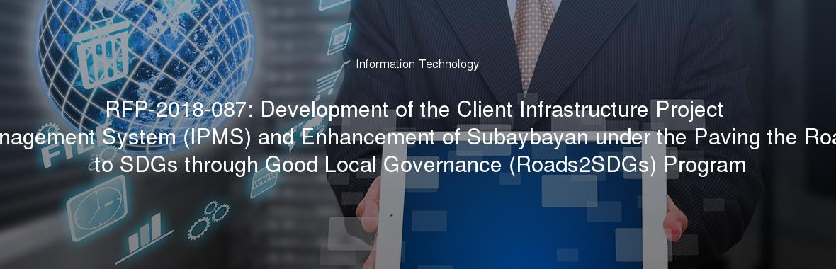 RFP-2018-087: Development of the Client Infrastructure Project