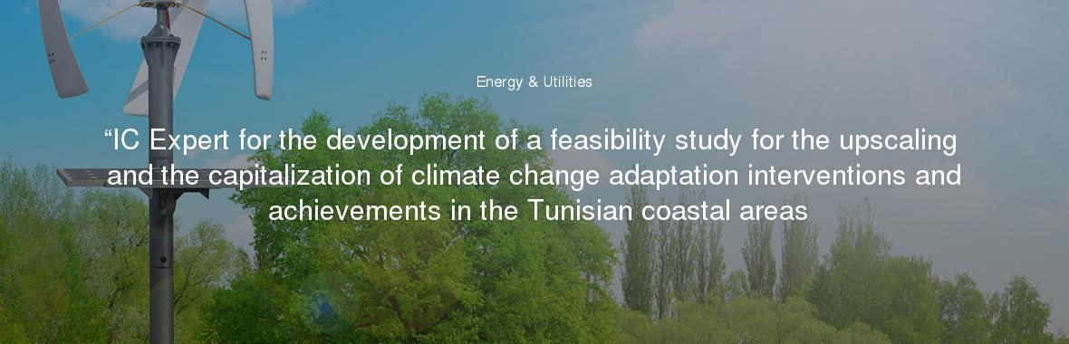 """""""IC Expert for the development of a feasibility study for the upscaling and the capitalization of climate change adaptation interventions and achievements in the Tunisian coastal areas"""