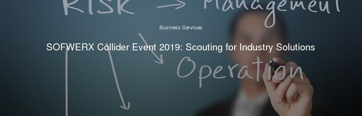 SOFWERX Collider Event 2019: Scouting for Industry Solutions