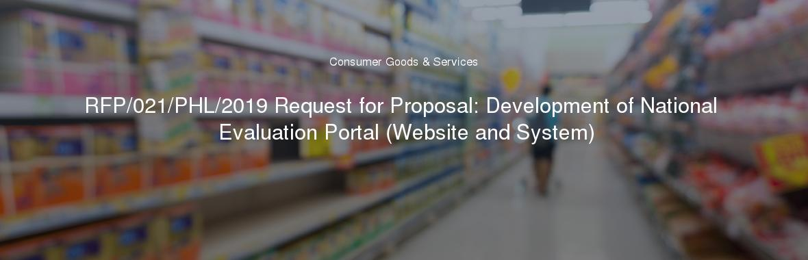 RFP/021/PHL/2019 Request for Proposal: Development of National