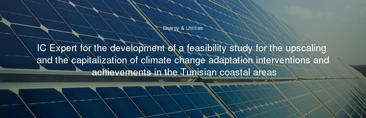 IC Expert for the development of a feasibility study for the upscaling and the capitalization of climate change adaptation interventions and achievements in the Tunisian coastal areas